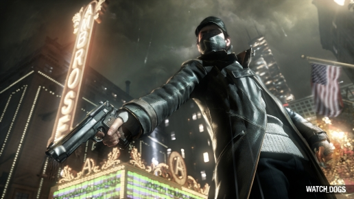 Aiden Pearce with the Gun Watch Dogs