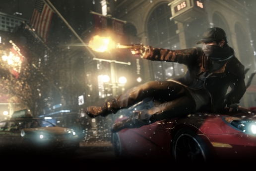 Aiden Pearce Watch Dogs Gun Action Screenhot
