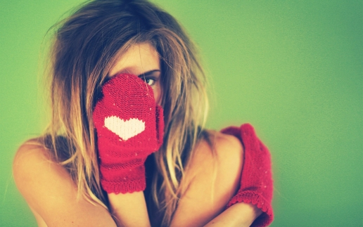 Girl with Funny Glove