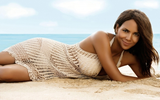 Halle Berry on the Summer Beach