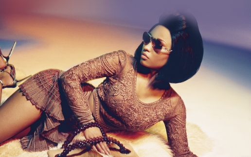 Nicki Minaj with Glamour Glasses