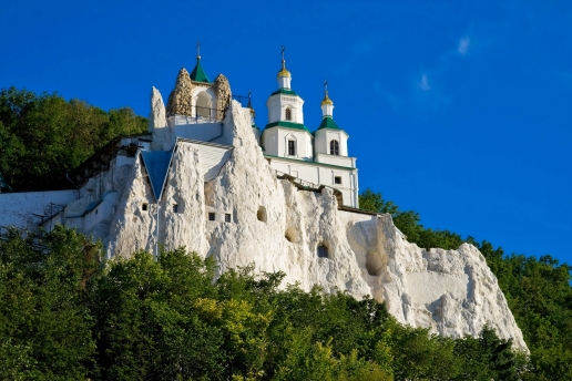 Beautiful Old Holy Mountains Lavra in Sviatohirsk
