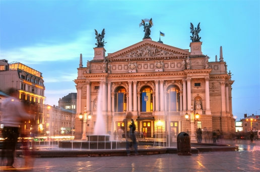 Opera and Ballet Theatre in Lviv Ukraine