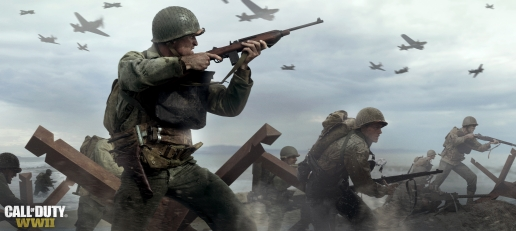 Call of Duty World War II Soldier with Weapon