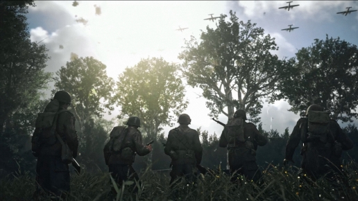 Call of Duty World War II Beautiful Sunny Day and Soldiers